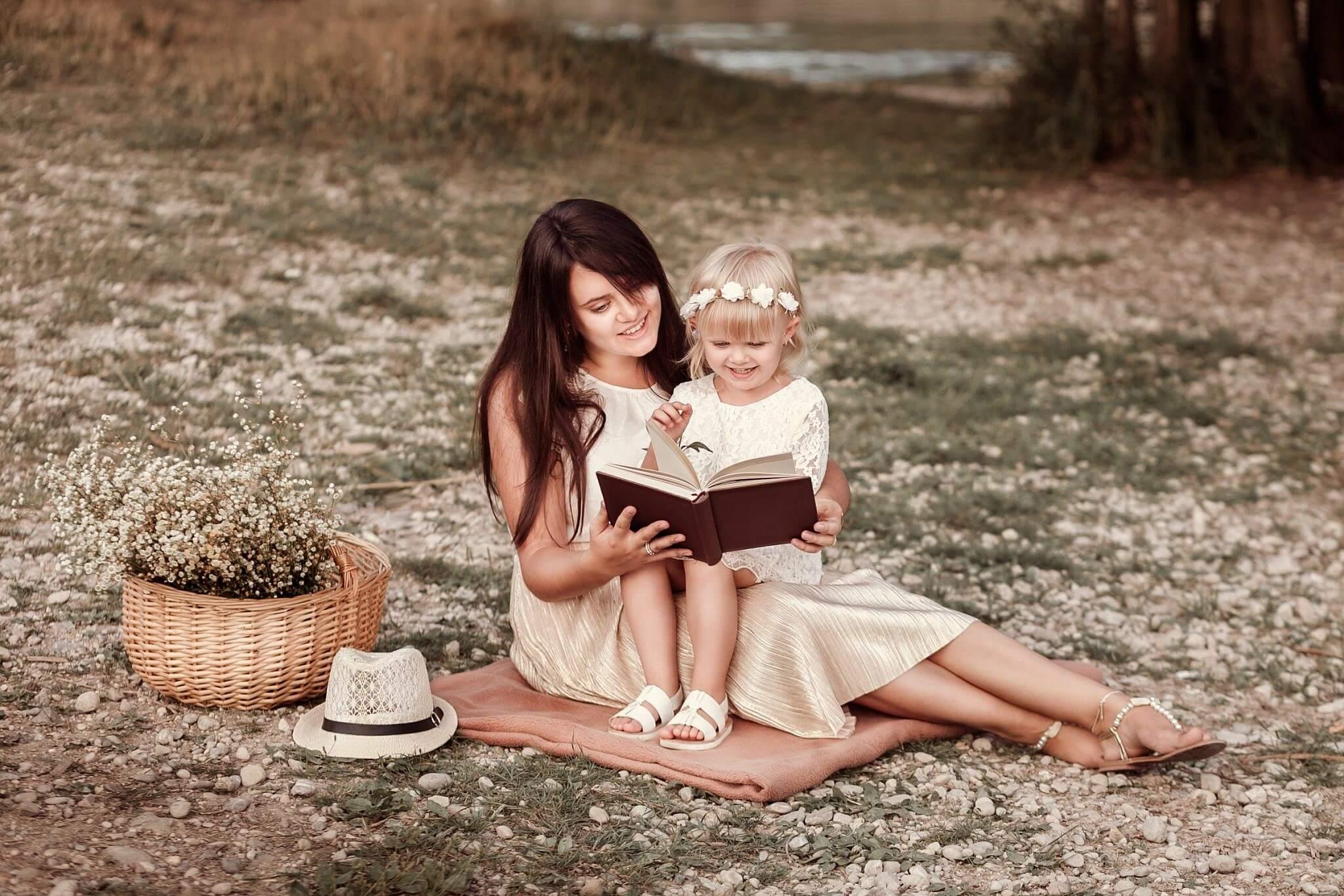 Outdoor Mutter Tochter Fotoshooting München