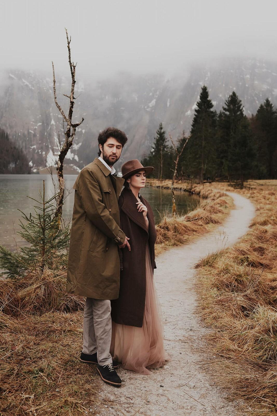 Paar-Fotoshooting mit Hochzeitsfotograf München