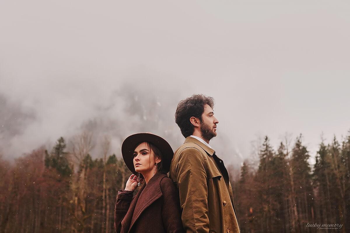 Gefühlsvolle Love Story Fotografie in Alpen
