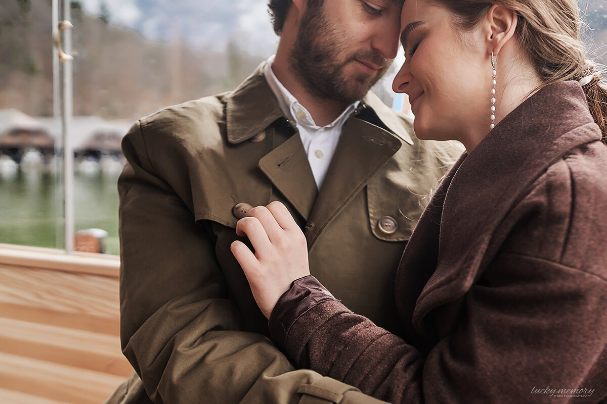 Love Story Fotografie bei Schifffahrt Königssee