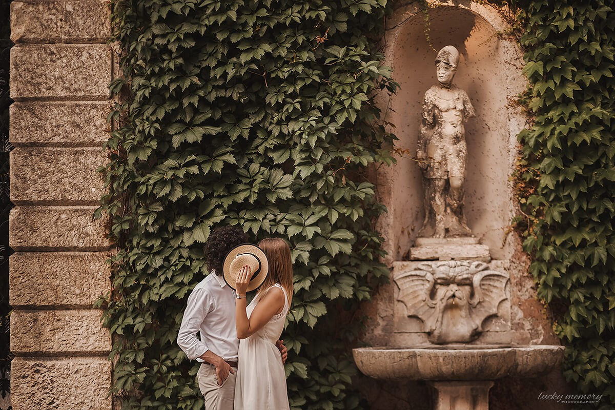 Love Story Fotoshooting in Verona - Hochzeitfotograf Italien