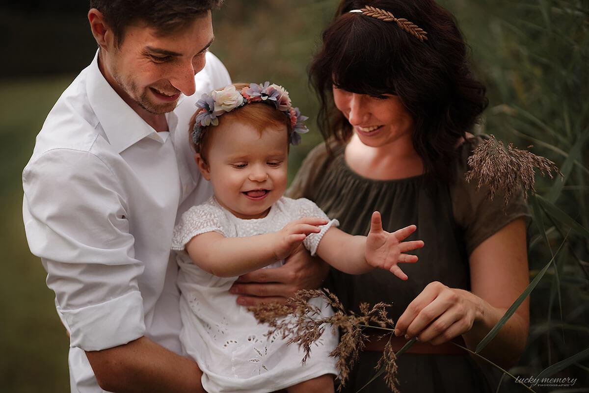 Familienfotografie Oberschleißheim in der Natur