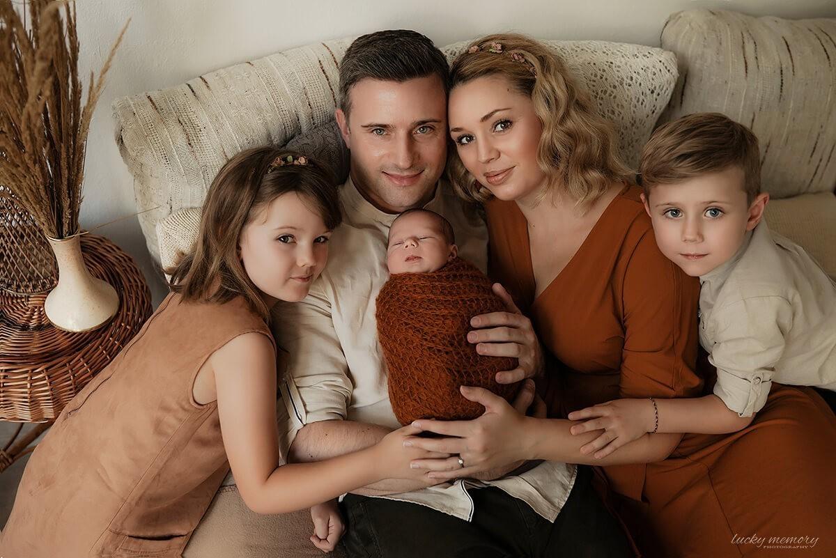 Neugeborenen Familie Shooting München