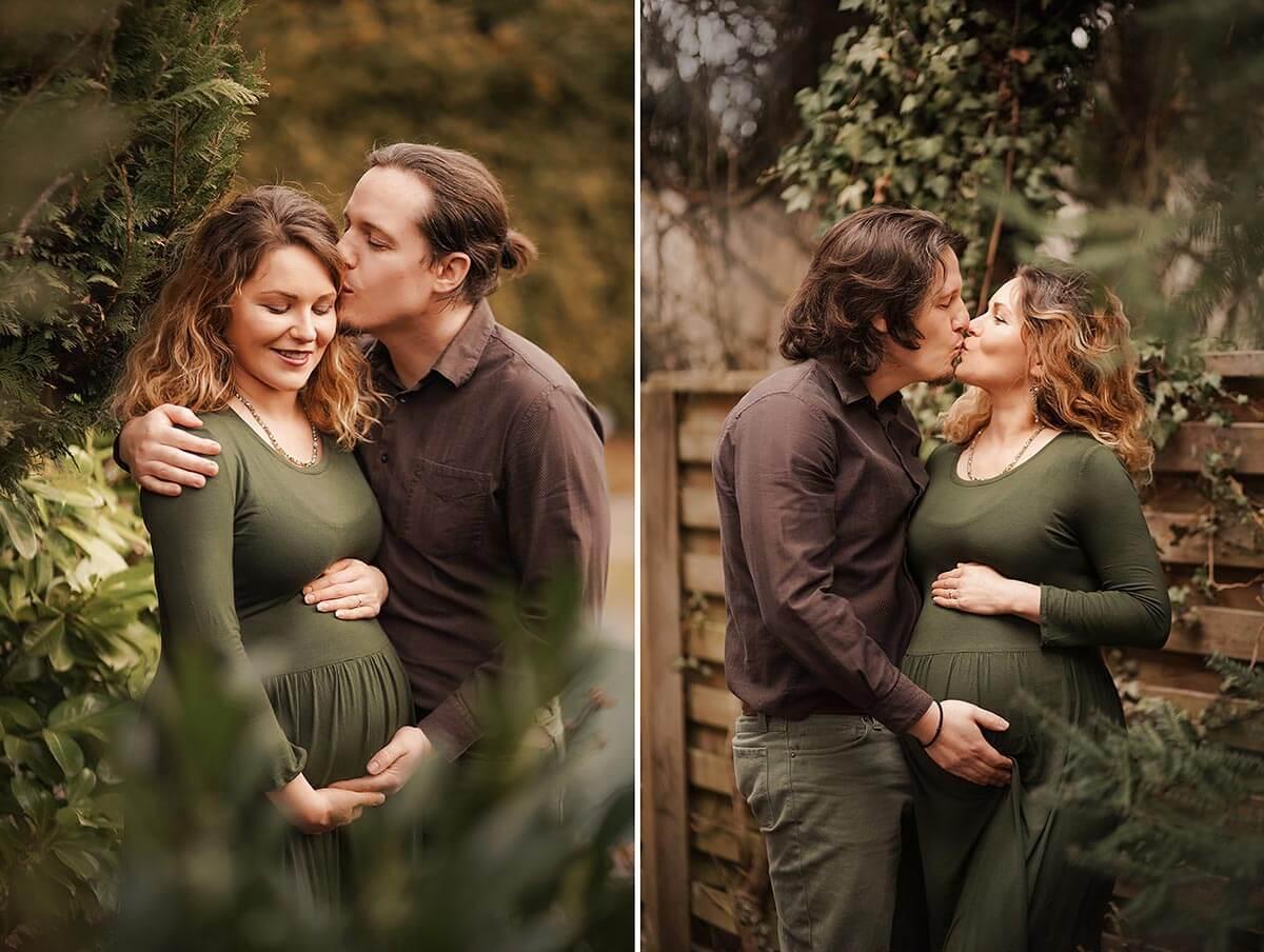 Schwangerschaft Fotoshooting in der Natur