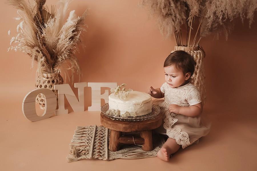 Cake Smash Shooting zum 1. Geburtstag mit einer professionellen Baby- und Kinderfotografin in München