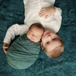 Babyshooting mit Geschwister